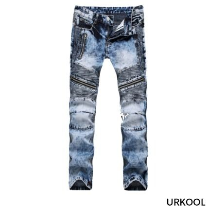 Unisex Denim Street Style Plain Cotton Jeans