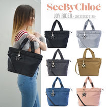 See by Chloe Heart Casual Style Unisex Nylon 2WAY Plain Party Style