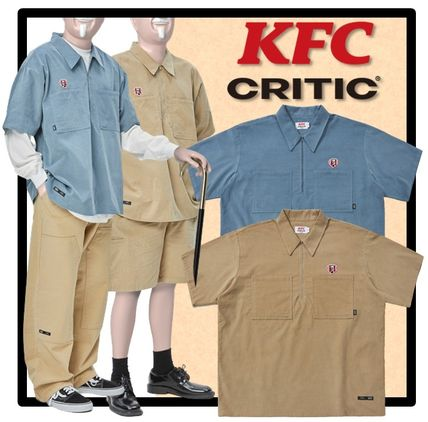 CRITIC Shirts Street Style Short Sleeves Shirts