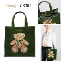 Harrods Casual Style Other Animal Patterns Elegant Style Logo Totes