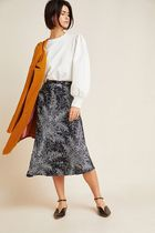 Anthropologie Pencil Skirts Flower Patterns Casual Style Blended Fabrics