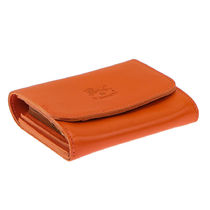 IL BISONTE Unisex Street Style Plain Leather Folding Wallet