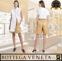BOTTEGA VENETA Short Casual Style Street Style Plain Leather Medium