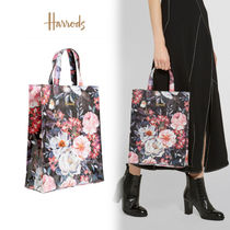 Harrods Flower Patterns Casual Style A4 PVC Clothing Elegant Style