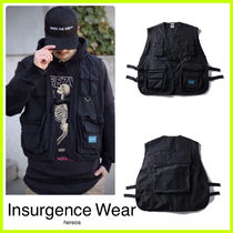 Insurgence Wear Unisex Street Style Plain Vests & Gillets