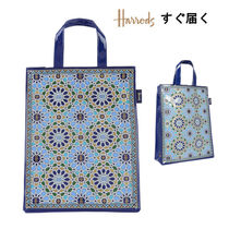 Harrods Casual Style A4 PVC Clothing Elegant Style Logo Totes
