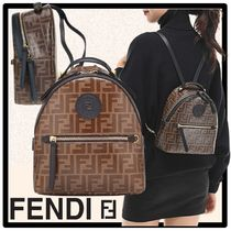 FENDI Casual Style Street Style Backpacks