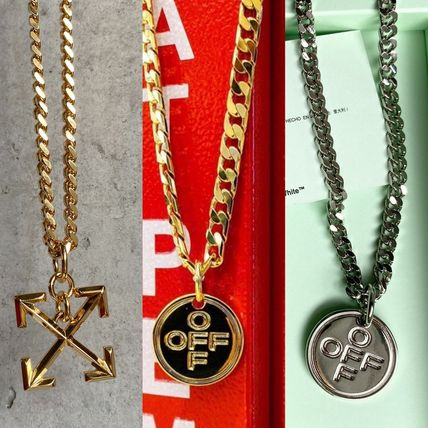 Unisex Street Style Chain Metal Logo Necklaces & Chokers