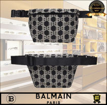 BALMAIN Monogram Casual Style Unisex Logo Hip Packs