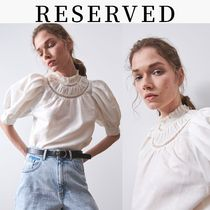 RESERVED Linen Cotton Puff Sleeves Tops