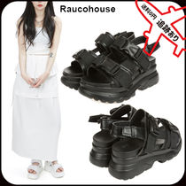 Raucohouse Open Toe Platform Casual Style Street Style Formal Style