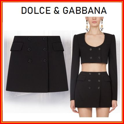 Dolce & Gabbana Short Wool Mini Skirts
