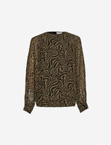 Ganni Casual Style Long Sleeves Other Animal Patterns Medium
