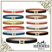 HERMES CONSTANCE Casual Style Plain Leather Party Style Office Style