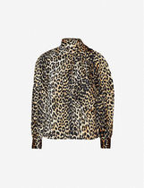 Ganni Leopard Patterns Casual Style Silk Blended Fabrics