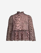 Ganni Casual Style Cropped Other Animal Patterns Party Style