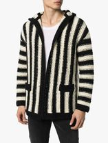 Saint Laurent Stripes Unisex Wool Street Style Luxury Cardigans