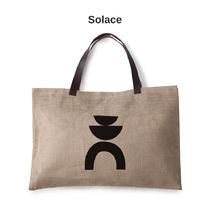 The Beach People Casual Style Plain Logo Totes