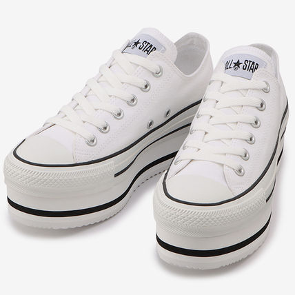 Star Platform Rubber Sole Casual Style Street Style Plain
