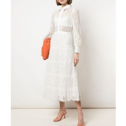 Long Sleeves Medium Lace Tired Dresses
