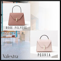 Valextra Iside Casual Style 2WAY 3WAY Plain Leather Party Style