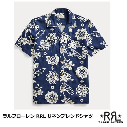 Surf Style Pullovers Flower Patterns Tropical Patterns Linen