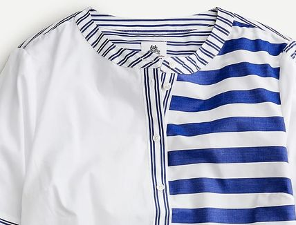 Stripes Casual Style Collaboration Cotton Office Style