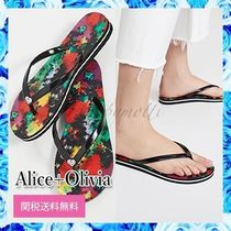 Alice+Olivia Open Toe Casual Style Street Style Flip Flops With Jewels
