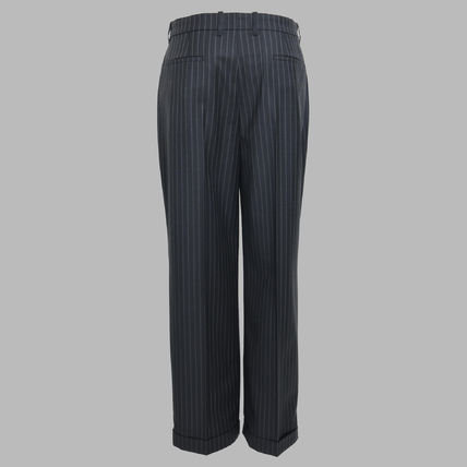 Slax Pants Stripes Wool Slacks Pants