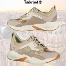 Timberland Suede Street Style Logo Low-Top Sneakers