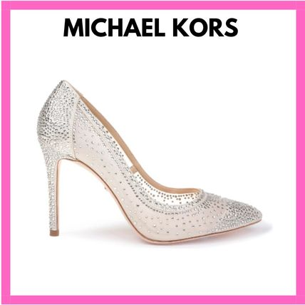 Casual Style Pin Heels Party Style With Jewels Elegant Style