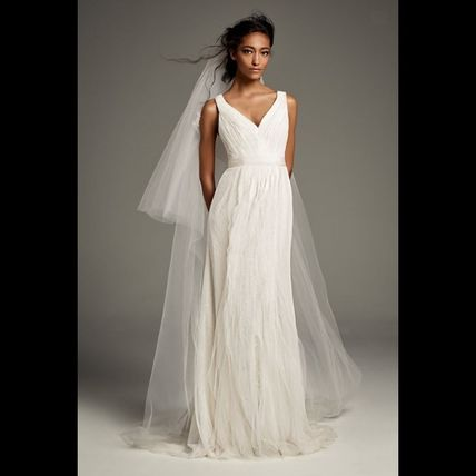 Vera Wang Sleeveless Long Wedding Dresses