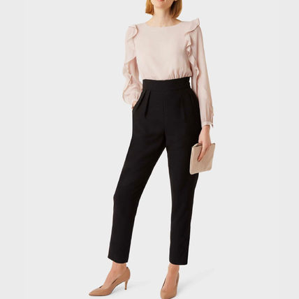 Dungarees Casual Style Long Sleeves Plain Long Party Style