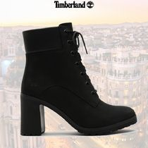 Timberland Casual Style Suede Street Style Plain Logo High Heel Boots