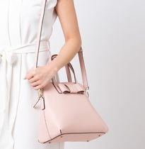 kate spade new york Blended Fabrics 2WAY Plain Leather With Jewels Satchels