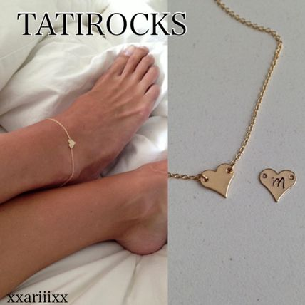 Casual Style Chain Handmade Silver 14K Gold Anklets