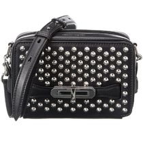 alexander mcqueen Unisex Street Style Leather Party Style Crossbody