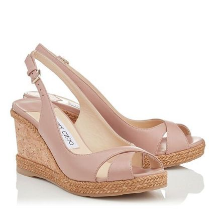 Jimmy Choo Open Toe Casual Style Plain Leather Party Style Office Style