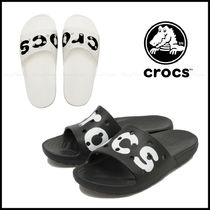 CROCS Casual Style Street Style Plain Shower Shoes Logo