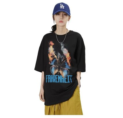 Raucohouse More T-Shirts Cotton Short Sleeves Oversized Logo T-Shirts 2