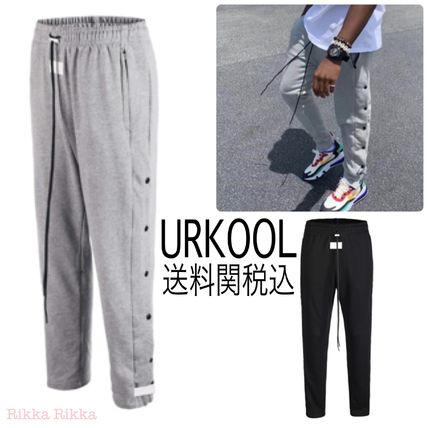 Street Style Plain Cotton Loungewear Pants