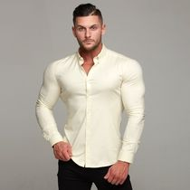 Father & Sons Shirts Street Style Long Sleeves Plain Shirts 15