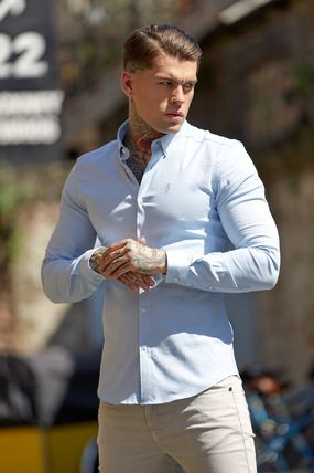 Father & Sons Shirts Street Style Long Sleeves Plain Shirts 2
