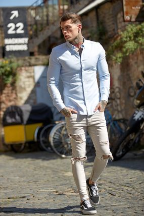 Father & Sons Shirts Street Style Long Sleeves Plain Shirts 3