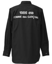 COMME des GARCONS Unisex Street Style Long Sleeves Plain Cotton Logo Designers