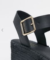 TOPSHOP Open Toe Casual Style Faux Fur Mules