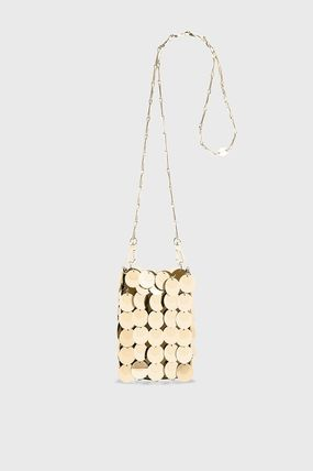 Casual Style Chain Plain Party Style PVC Clothing Crossbody