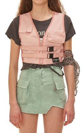 Casual Style Street Style Vests