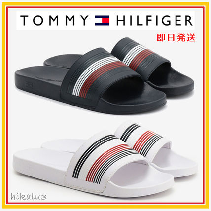 Tommy Hilfiger Stripes Unisex Street Style Sport Sandals Shower Shoes