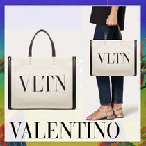 VALENTINO VLTN Casual Style Canvas A4 Office Style Elegant Style